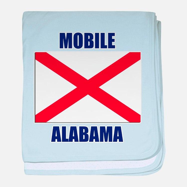 Mobile Alabama baby blanket