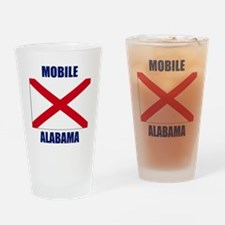 Mobile Alabama Drinking Glass