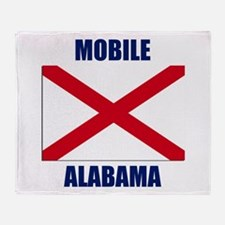 Mobile Alabama Throw Blanket