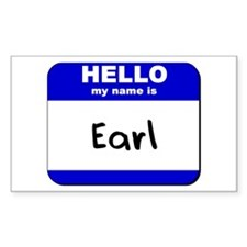 hello my name is earl Rectangle Decal