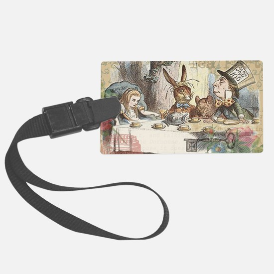 Mad Tea Party Luggage Tag