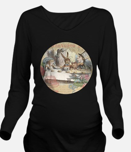 Mad Tea Party Long Sleeve Maternity T-Shirt
