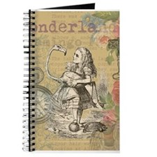 Alice in Wonderland Flamingo Journal