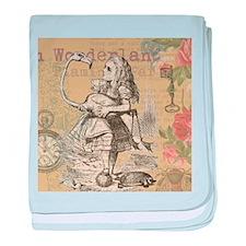 Alice in Wonderland Flamingo baby blanket