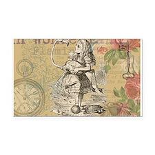 Alice in Wonderland Flamingo Rectangle Car Magnet