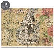 Alice in Wonderland Flamingo Puzzle