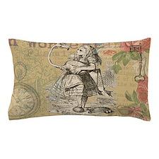 Alice in Wonderland Flamingo Pillow Case