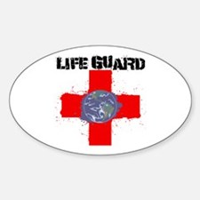 Life Guard Earth Oval Decal