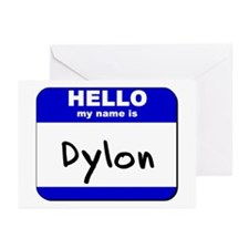 hello my name is dylon  Greeting Cards (Package of