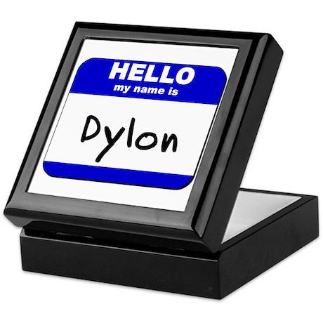 hello my name is dylon Keepsake Box
