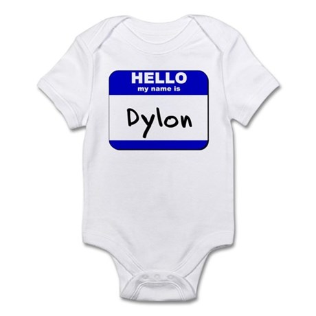 hello my name is dylon Infant Bodysuit