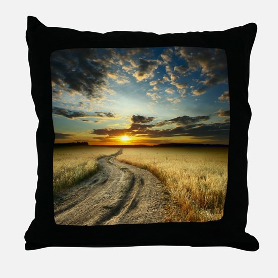 Western Road Throw Pillow