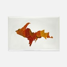 Autumn Leaves U.P. Rectangle Magnet