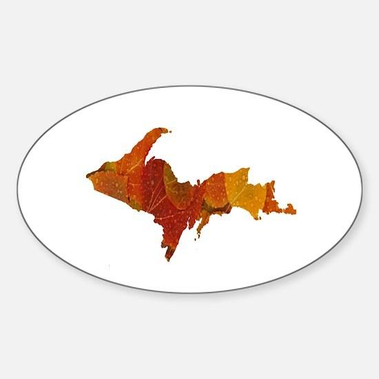 Autumn Leaves U.P. Sticker (Oval)