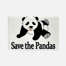 SAVE THE PANDAS Rectangle Magnet