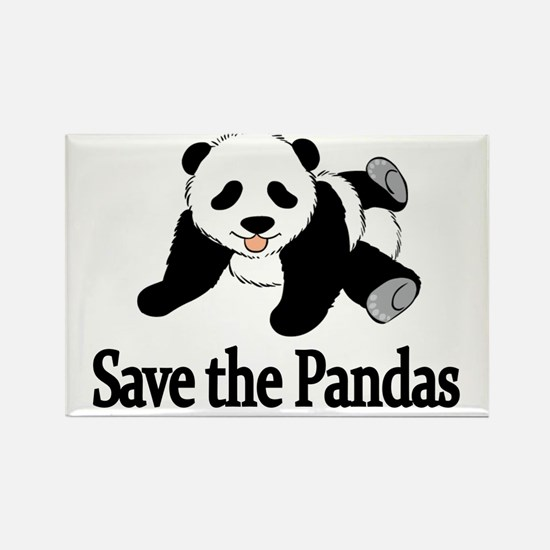 SAVE THE PANDAS Rectangle Magnet