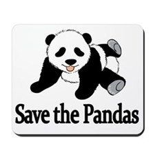 SAVE THE PANDAS Mousepad