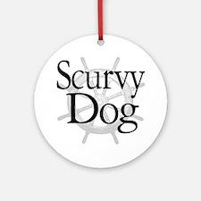 Scurvy Dog Caribbean Pirate Ornament (Round)