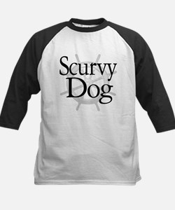 Scurvy Dog Caribbean Pirate Kids Baseball Jersey