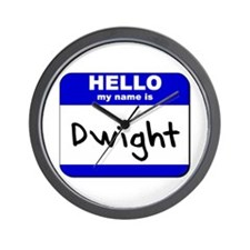 hello my name is dwight  Wall Clock