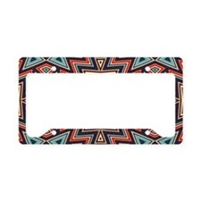 Aztec Cross License Plate Holder