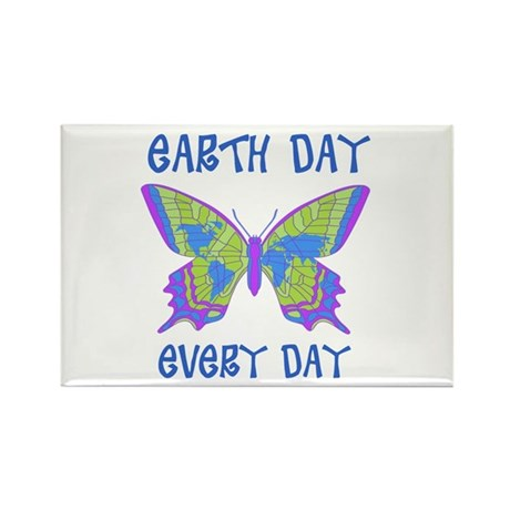 Earth Day Every Day Butterfly Rectangle Magnet (10
