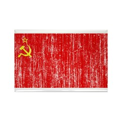 Retro Soviet Union Flag Rectangle Magnet