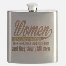 women are like bacon Flask