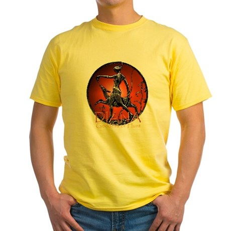 Diana Goddess of Hunt Yellow T-Shirt