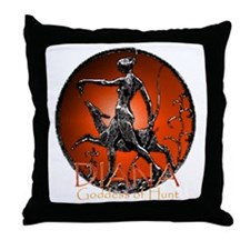 Diana Goddess of Hunt Throw Pillow