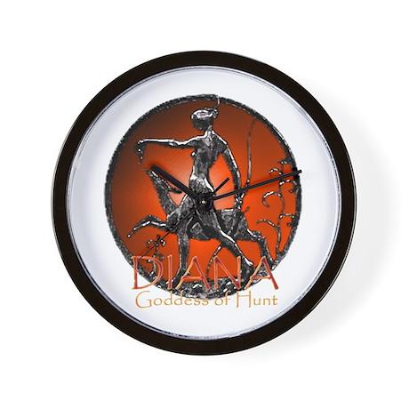 Diana Goddess of Hunt Wall Clock