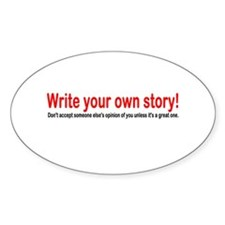 Write Your Own Story Decal