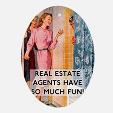 Real Estate Agents Oval Ornament