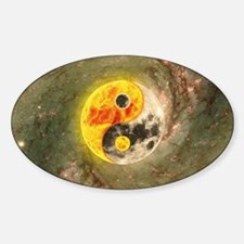 Yin Yang In The Universe Sticker (Oval)