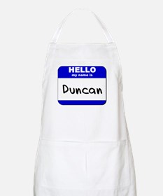 hello my name is duncan  BBQ Apron