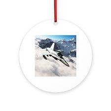 F-18 Hornet Round Ornament