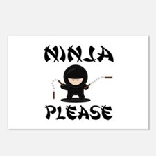 Ninja Please Postcards (Package of 8)