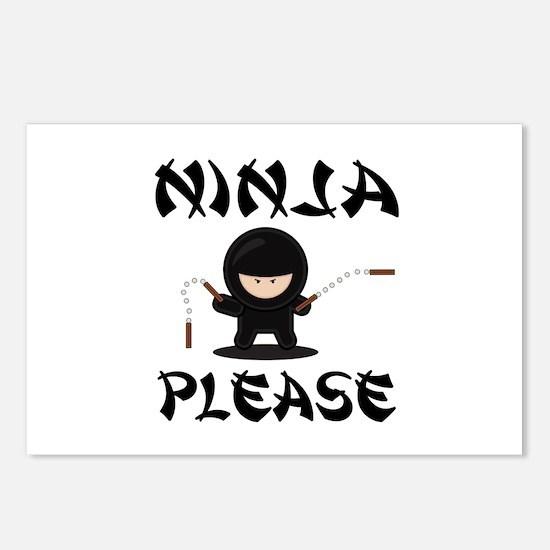 Ninja Please Postcards (Package of 8)