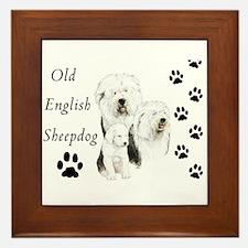 Sheepdog prints Framed Tile