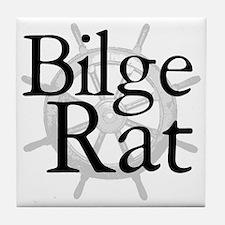 Bilge Rat Pirate Caribbean Tile Coaster