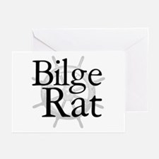 Bilge Rat Pirate Caribbean Greeting Cards (Package
