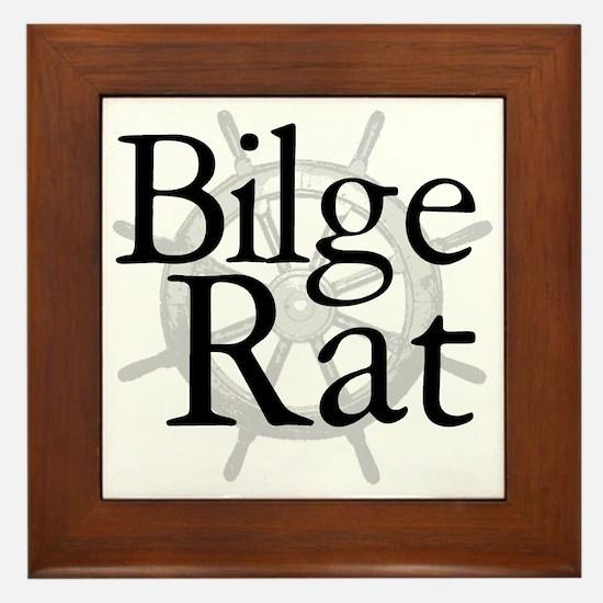 Bilge Rat Pirate Caribbean Framed Tile