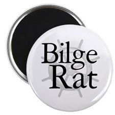 """Bilge Rat Pirate Caribbean 2.25"""" Magnet (100 pack)"""