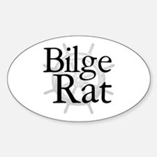 Bilge Rat Pirate Caribbean Oval Decal