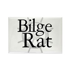 Bilge Rat Pirate Caribbean Rectangle Magnet (10 pa