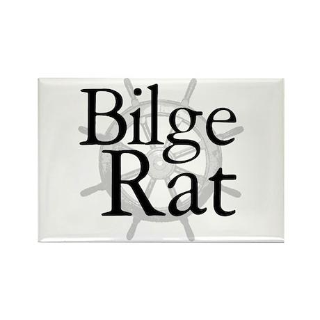 Bilge Rat Pirate Caribbean Rectangle Magnet (100 p