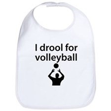 I Drool For Volleyball Bib