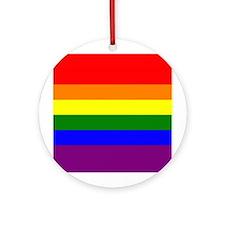 Unique Rainbow flag Ornament (Round)