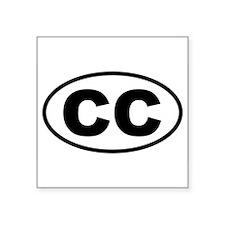 Basic Cape Cod CC Oval Sticker