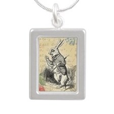 White Rabbit from Alice in Wonderland Necklaces